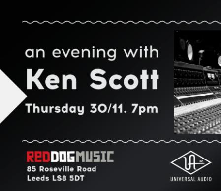 Ken Scott Red Music Store Leeds