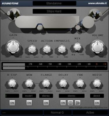 Sknote - Roundtone - Multitrack tape machine and Delay